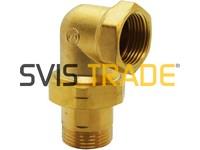 "097 1"" STD Radiator angle union brass"